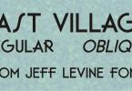 East Village Jnl [2 Fonts] | The Fonts Master