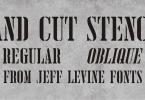 Hand Cut Stencil Jnl [2 Fonts] | The Fonts Master