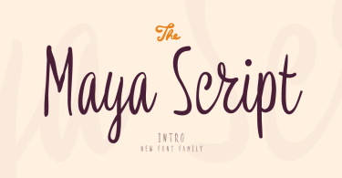 Maya Script [3 Fonts] | The Fonts Master