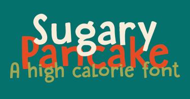 Sugary Pancake [1 Font] | The Fonts Master