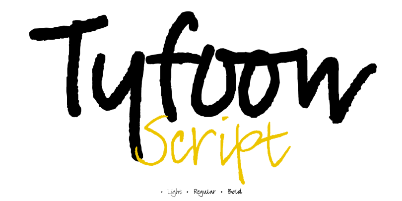 Tyfoon Script [3 Fonts] | The Fonts Master