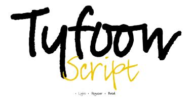 Tyfoon Script [3 Fonts]
