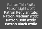 Patron [12 Fonts] | The Fonts Master