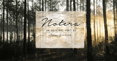 Notera [1 Font]   The Fonts Master