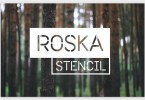Roska Stencil [1 Font] | The Fonts Master