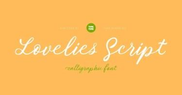 Tt Lovelies Script [1 Font] | The Fonts Master