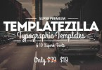 Templatezilla: Super Premium Typographic Templates &Amp; 10 Superb Fonts [22 Fonts + Extras] | The Fonts Master
