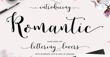 Romantic Script [9 Fonts] | The Fonts Master