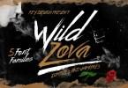 Wild Zova [5 Fonts] | The Fonts Master