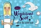 Wonderland Script + Vector Set [1 Font + Extras] | The Fonts Master