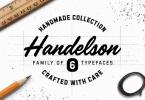 Handelson [6 Fonts] | The Fonts Master