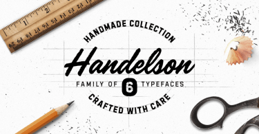Handelson [6 Fonts]   The Fonts Master
