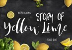 Yellow Lime &Amp; Vector Doodle [2 Fonts + Extras] | The Fonts Master