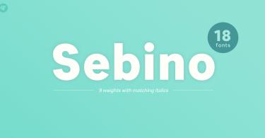 Sebino Super Family [18 Fonts] | The Fonts Master
