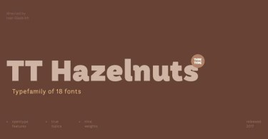 Tt Hazelnuts Super Family [18 Fonts] | The Fonts Master