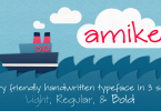 Amike [3 Fonts] | The Fonts Master