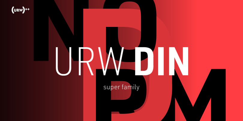 Urw Din Super Family [48 Fonts] | The Fonts Master
