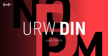URW DIN Super Family [48 Fonts]