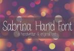 Mrf Sabrina [1 Font] | The Fonts Master