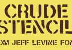 Crude Stencil Jnl [1 Font] | The Fonts Master