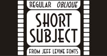 Short Subject Jnl [2 Fonts] | The Fonts Master