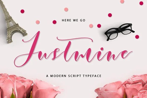 Justmine Modern Script [2 Fonts]   The Fonts Master