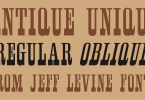 Antique Unique Jnl [2 Fonts] | The Fonts Master
