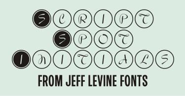 Script Spot Initials Jnl [1 Font] | The Fonts Master