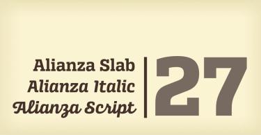Alianza Super Family [30 Fonts]   The Fonts Master