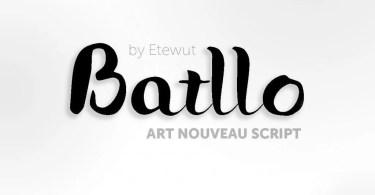 Batllo [1 Font]   The Fonts Master