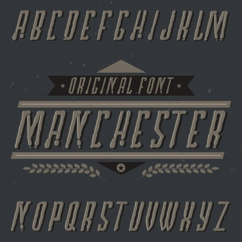 Manchester [6 Fonts + Extras] | The Fonts Master