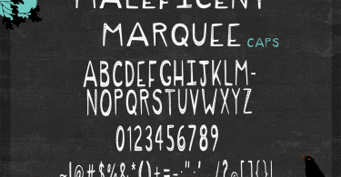 Maleficent Marquee [1 Font] | The Fonts Master