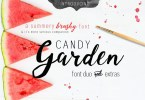 Candy Garden [2 Fonts + Extras] | The Fonts Master