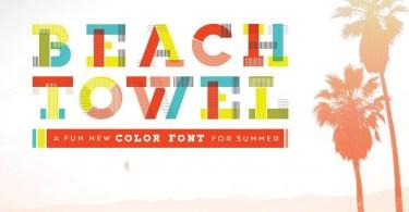 Beach Towel [2 Fonts] | The Fonts Master