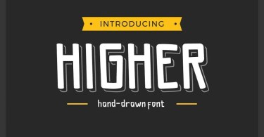 Higher [1 Font + Extras] | The Fonts Master