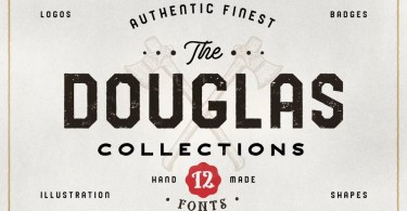 Douglas Collections Bundle [12 Fonts + Extras] | The Fonts Master