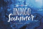 Indigo Summer [8 Fonts + Extras] | The Fonts Master