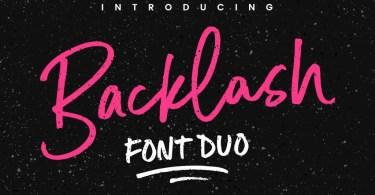 Backlash [3 Fonts]   The Fonts Master