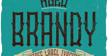 Brandy Vintage Label [6 Fonts] | The Fonts Master