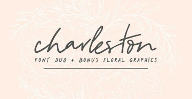 Charleston [2 Fonts+Extras] | The Fonts Master