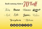 Eurotypo Script Font Bundle [10 Fonts] | The Fonts Master