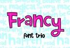 Francy [3 Fonts] | The Fonts Master