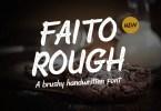 Faito Rough [1 Font] | The Fonts Master