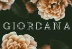 Giordana [2 Fonts] | The Fonts Master