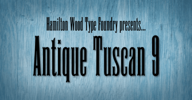 Hwt Antique Tuscan 9 [1 Font] | The Fonts Master