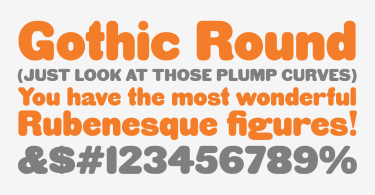 Hwt Gothic Round [1 Font] | The Fonts Master