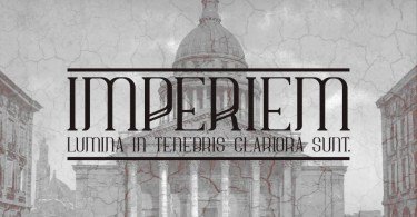 Imperiem [1 Font] | The Fonts Master
