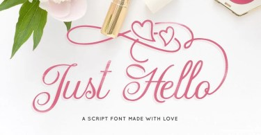 Just Hello [1 Font] | The Fonts Master