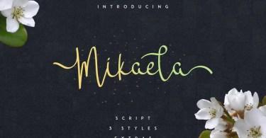 Mikaela Script [4 Fonts]   The Fonts Master