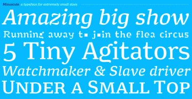 Minuscule [10 Fonts]   The Fonts Master